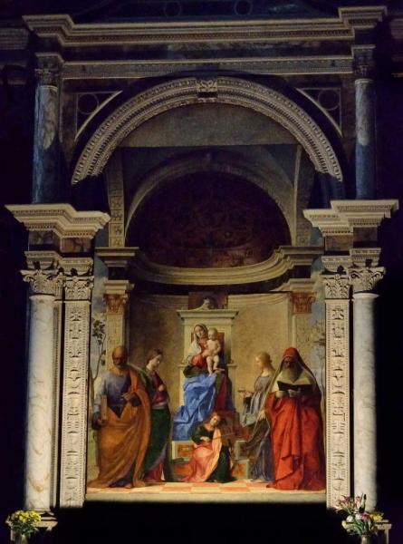 13 - San Zaccaria . Bellini . La Vierge à l'Enfant . 1505