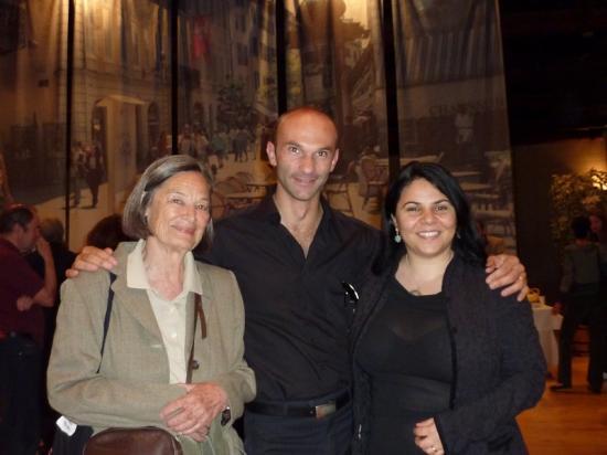 Hélène Visconti et Michela Murgia en compagnie du traducteur Laurent Lombard