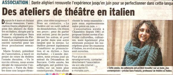 Atelier de theatre