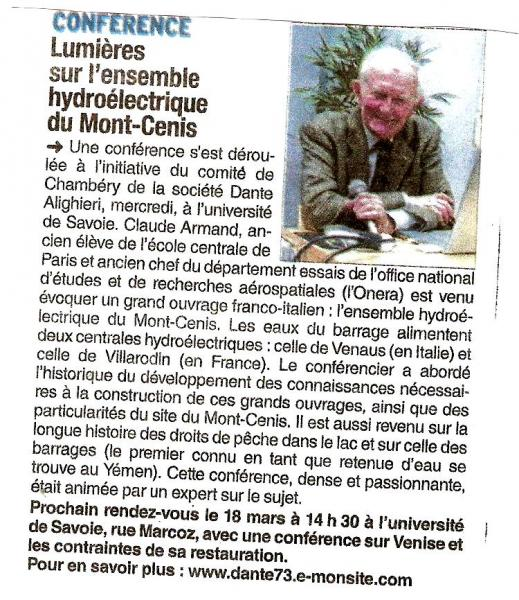 Conference Mont Cenis